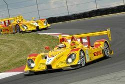 Penske Motorsports Porsche RS Spyder Team dans le tour de formation