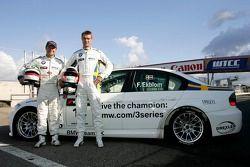 Andy Priaulx, BMW Team UK, BMW 320si WTCC et Frederik Ekblom, BMW Team UK, BMW 320si WTCC