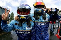 Alain Menu, Team Chevrolet, Chevrolet Lacetti et Robert Huff, Team Chevrolet, Chevrolet Lacetti