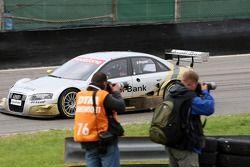 In the outlap Alexandre Premat, Audi Sport Team Phoenix, Audi A4 DTM waved to the public