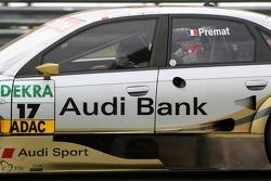 Dans le tour de sortie Alexandre Prémat, Audi Sport Team Phoenix, Audi A4 DTM salua au public