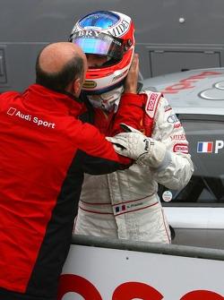 Dr Wolfgang Ullrich, directeur des sports de Audi, remercie Alexandre Prémat, Audi Sport Team Phoenix, Audi A4 DTM