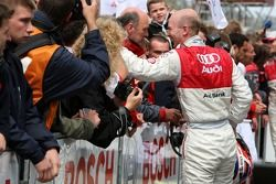 Alexandre Premat, Audi Sport Team Phoenix, Audi A4 DTM gave up his leading position in the race in f