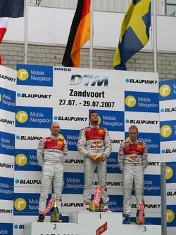 Podium: Martin Tomczyk, Audi Sport Team Abt Sportsline, Alexandre Prémat, Audi Sport Team Phoenix, M