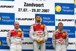 Podium: Martin Tomczyk, Audi Sport Team Abt Sportsline, Alexandre Premat, Audi Sport Team Phoenix, M