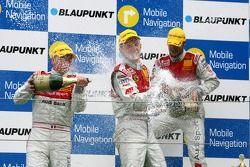 Podium: Alexandre Prémat, Audi Sport Team Phoenix, Mattias Ekström, Audi Sport Team Abt Sportsline et Martin Tomczyk, Audi Sport Team Abt Sportsline