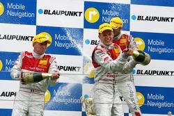 Podium: Alexandre Prémat, Audi Sport Team Phoenix, Mattias Ekström, Audi Sport Team Abt Sportsline,