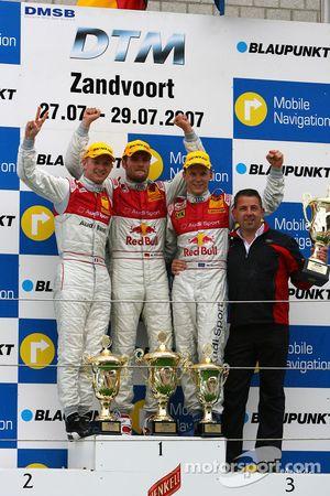 Podium: Martin Tomczyk, Audi Sport Team Abt Sportsline, Alexandre Prémat, Audi Sport Team Phoenix, Mattias Ekström, Audi Sport Team Abt Sportsline