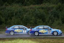 Rickard Rydell, Team Chevrolet, Chevrolet Lacetti and Nicola Larini, Team Chevrolet, Chevrolet Lacet