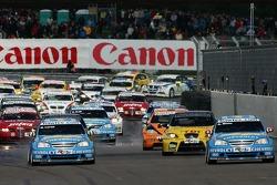 Alain Menu, Team Chevrolet, Chevrolet Lacetti and Nicola Larini, Team Chevrolet, Chevrolet Lacetti