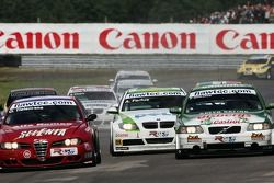 Oliver Tielemans, N Technology, Alfa Romeo 156 et Augusto Farfus, BMW Team Germany, BMW 320si WTCC