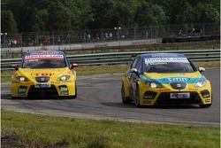 Tiago Monteiro, SEAT Sport, SEAT Leon y Jordi Gene, SEAT Sport, SEAT Leon