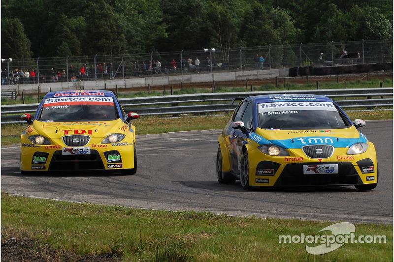 Tiago Monteiro, SEAT Sport, SEAT Leon e Jordi Gene, SEAT Sport, SEAT Leon