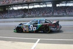 Tony Raines in the pits for damage repair
