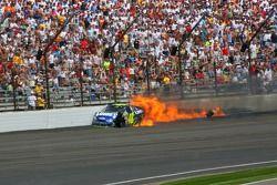 Jimmie Johnson crashes