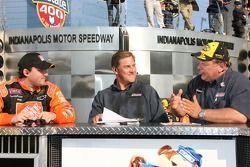 Post-race interviews for race winner Tony Stewart