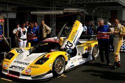 #103 Gravity Racing International Mosler MT 900; à droite, Vincent Radermecker