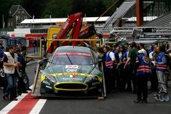 #23 Aston Martin Racing BMS Aston Martin DBR9 ; will be repaired for the next day