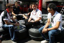 Anthony Davidson, Super Aguri F1 Team y Sakon Yamamoto, Spyker F1 Team