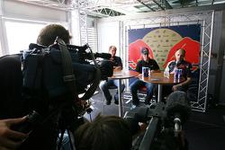 Gerhard Berger, Scuderia Toro Rosso, Team co-owner, Sebastian Vettel , Scuderia Toro Rosso, Franz Tost, Scuderia Toro Rosso, Team Principal