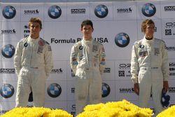 Le podium: Maxime Pelletier, Alexander Rossi et Robert Thorne