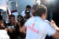 Fernando Alonso, McLaren Mercedes after leaving race control