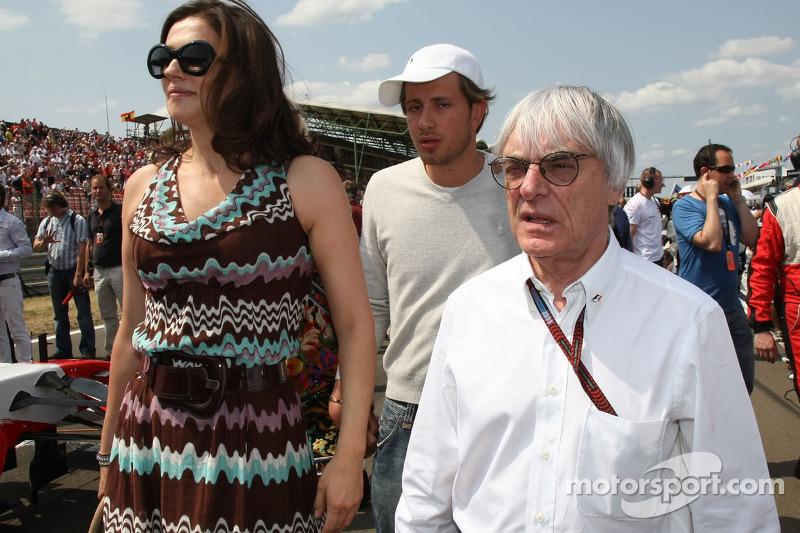 Bernie Ecclestone e sua ex-mulher, Slavica