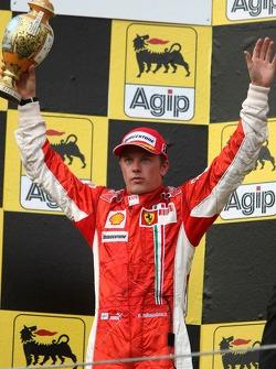 Podium: second place Kimi Raikkonen