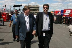 Brian France et Mike Helton NASCAR COO