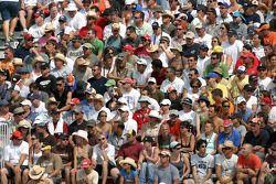 Fans regarde la cérémonie de pré-course