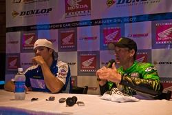 Ben Spies and Jamie Hacking at the post race press conference