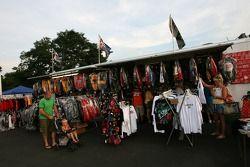 Zone de vente à la Fan Fest Watkins Glen
