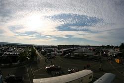 Overall view of the Watkins Glen garage area