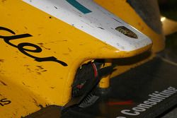 L'usure sur la #7 Penske Motorsports Porsche RS Spyder