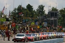 Cars about to leave for the race