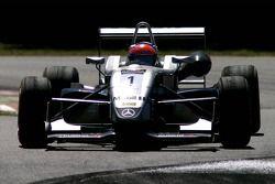 Poleman Romain Grosjean, fighting from last to 14th position (FRA ASM Formule 3 Dallara F305 Mercede