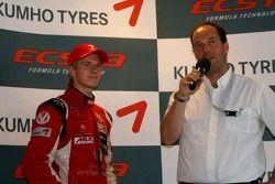 The Masters' winner on concert: promising German driver Nico Hulkenberg
