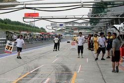 Pitlane during Free Practice Session