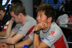 Satoshi Motoyama, Richard Lyons during Driver's Briefing