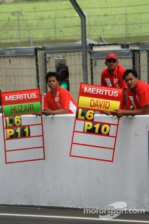 Mur des stands Team Meritus