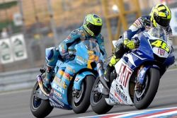 Valentino Rossi and Chris Vermeulen
