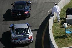 #83 BGB Motorsports Porsche 997: Tim Traver, Mikel Miller, #41 TRG Porsche 997: Ted Ballou, Andy Lal