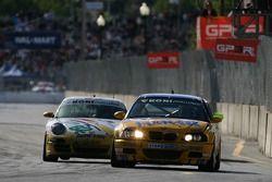 #97 Turner Motorsport BMW M3: Don Salama, Will Turner, #82 BRG / Group 88 Motorsports Porsche 997: J