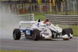 Action from the Formula BMW race at Brands Hatch