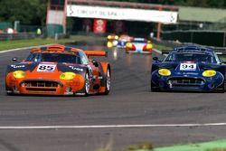#85 Spyker Squadron Spyker C8 Spyder GT2R: Peter Kox, Jarek Janis, #94 Speedy Racing Team Spyker C8