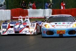 #25 RML MG Lola EX264-AER: Thomas Erdos, Mike Newton, #78 Scuderia Villorba Corse Ferrari F430 GT: Alex Caffi, Denny Zardo