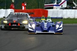 #18 Rollcentre Racing Pescarolo-Judd: Joao Barbosa, Stuart Hall, Martin Short, #59 Team Modena Aston