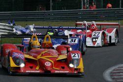 Les Combes au premier tour: #31 Binnie Motorsports Lola B05/40 Zytek: Bill Binnie, Allen Timpany, Ch