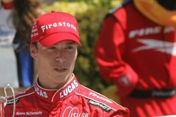 Victory lane: race winner and 2007 Indy Pro Series champion Alex Lloyd celebrates