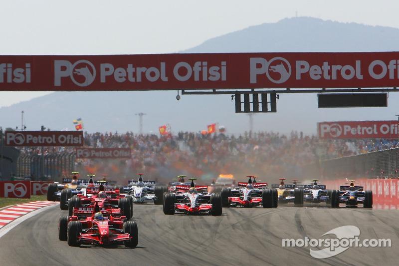 Start, 3.Felipe Massa, Scuderia Ferrari, F2007, 2. Kimi Raikkonen, Scuderia Ferrari, F2007, 3. Lewis Hamilton, McLaren Mercedes, MP4-22